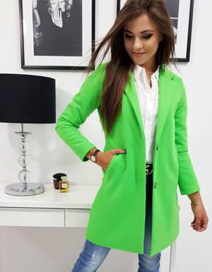 5a85d12f1608 Krásny neónovo-zelený kabát (ny0238)