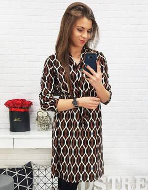 Štýlové dámske šaty so vzorom (ey0689) 8e219c65162