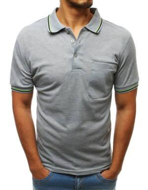 47a3a5df1f2d Štýlové svetlo-šedé POLO tričko (px0234)