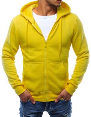 4b2f1a0dac Trendová žltá mikina s kapucňou (bx2415)