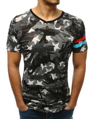 227c9690a3b6 Pánske moderné tričko sivej farby (rx3412)