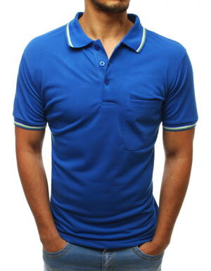 89f343c89c81 Modré pohodlné POLO tričko (px0235)