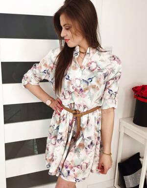 601b342f46cd Dámske šaty s kvetinovým vzorom (ey0824)