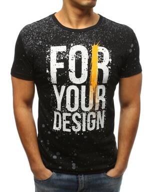 a383ce723245 Čierne pánske tričko (rx3230)