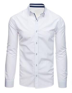 408deb7b16d5 Pánska biela praktická košeľa (dx1705)