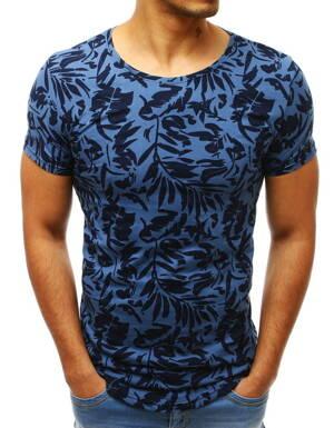 31788e6b0e56 Modré pánske tričko s potlačou (rx3418)