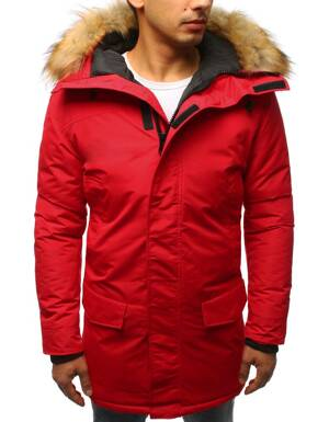 13546b5a7 Moderná pánska bunda v červenej farbe (tx2438)