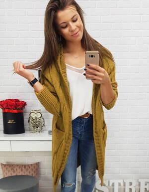 Štýlový dlhý dámsky sveter s kapucňou (my0279) f84fffba911
