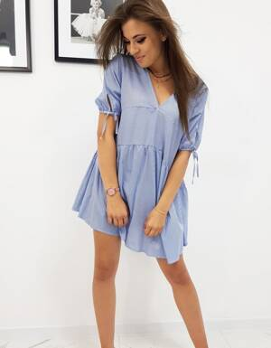 35bcdf9fb9 Dámske modré šaty s pásikmi (ey0912)