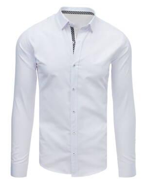 dcb7f16662a5 Elegantná biela pánska košeľa EGO MAN (dx1642)