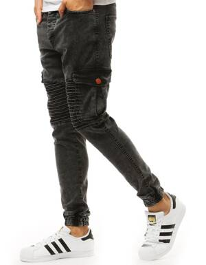 585e7cc52990 Čierne rifľové jogger nohavice (ux1929)