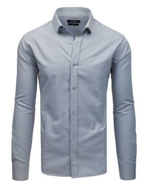 b185597f9312 Trendová košeľa v sivom prevedení (dx1729)