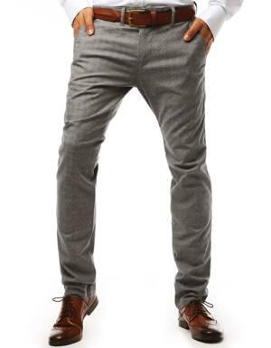fe1ae22f9 Pánske šedé nohavice typu chinos (ux1921)