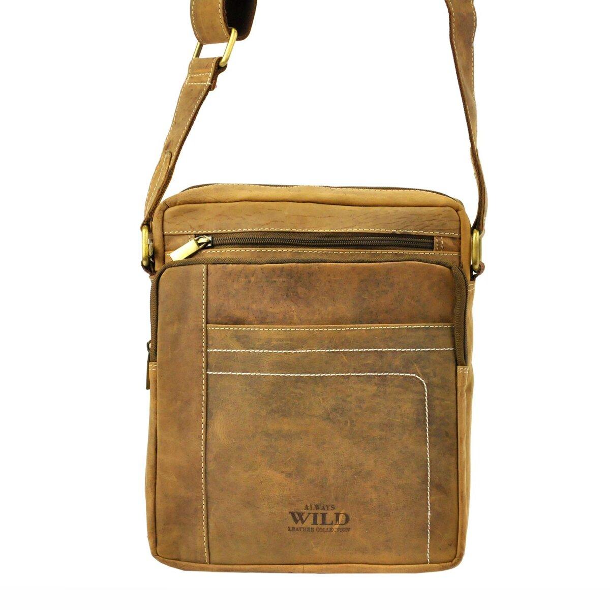 e6eb65a7a Kožená taška na rameno Wild 250839-MH