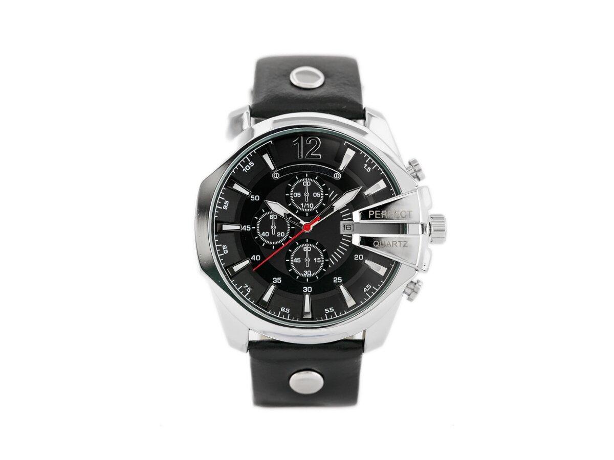 d994994ccc Strieborné športovo-elegantné pánske hodinky Perfect A162T-B