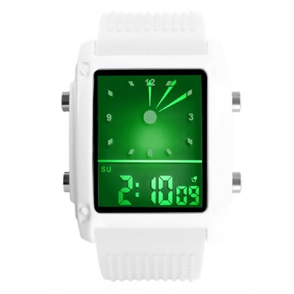 8909a3278 Biele pánske hodinky SKMEI 0814G-B