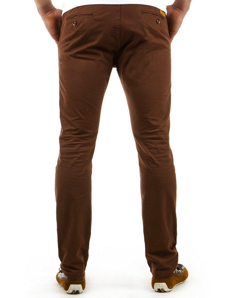 384d63525492 Hnedé pánske nohavice chinos (ux0557). PrevNext