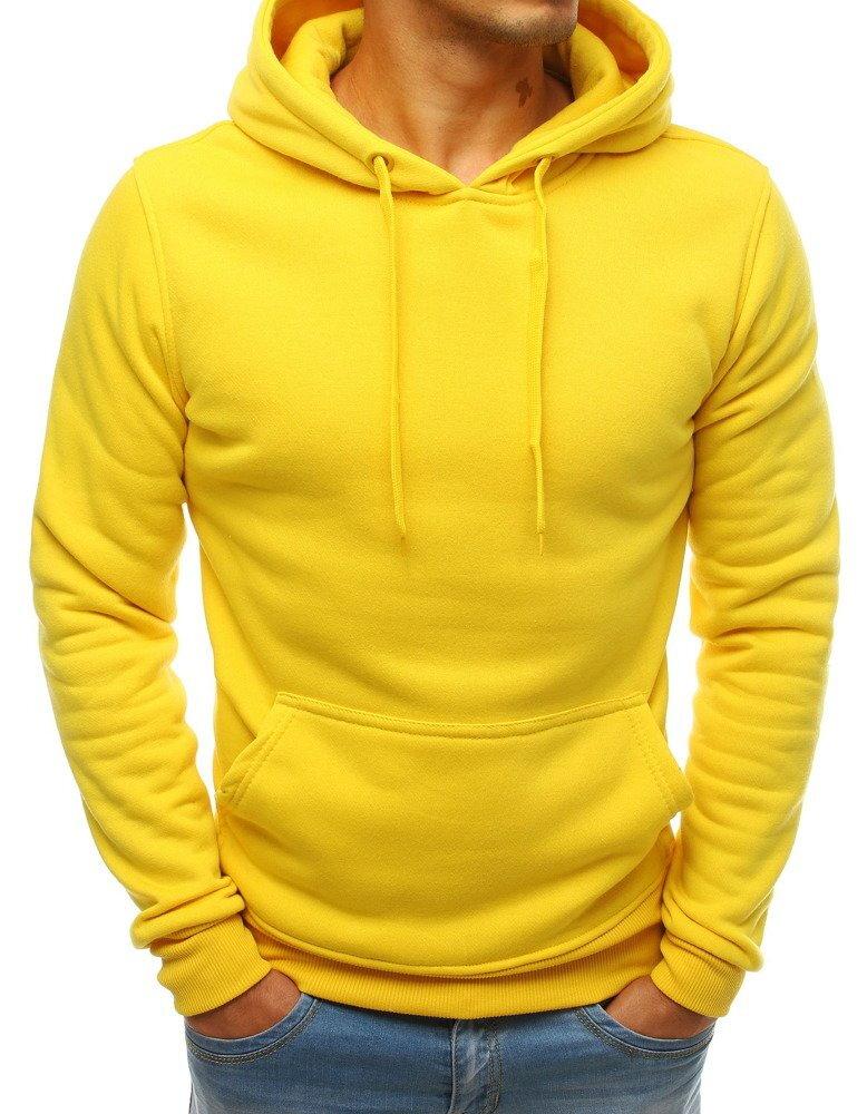 c844abce4 Pánska žltá mikina s kapucňou (bx3992)
