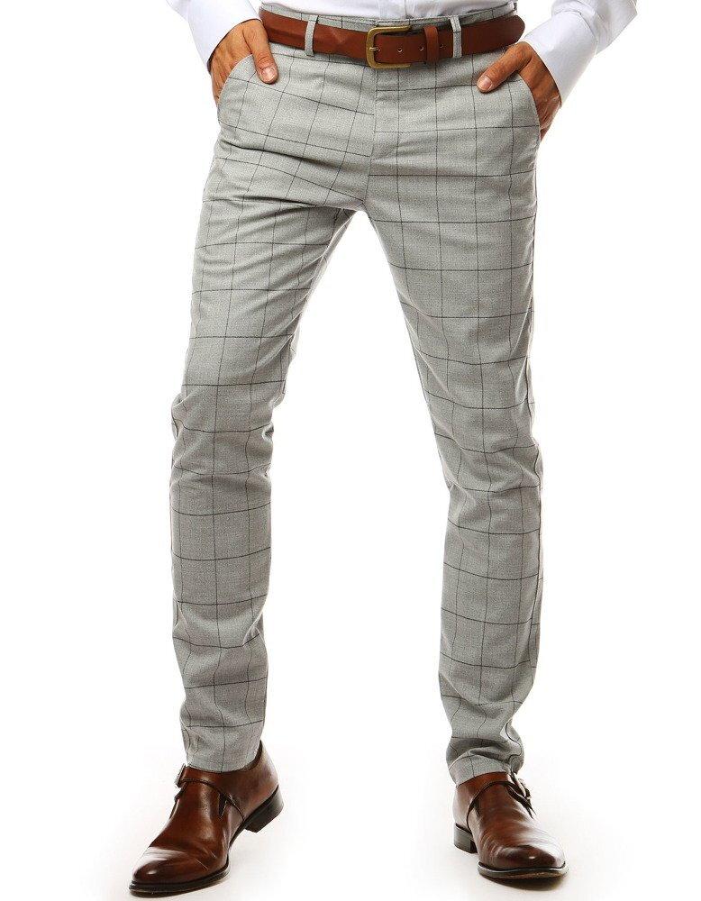 a69d821cd Kárované pánske svetlo-šedé nohavice (ux1983)