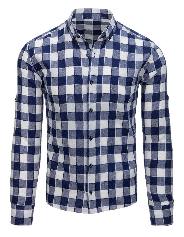 ce66eeb6de29 Károvaná pánska košeľa (dx1518)