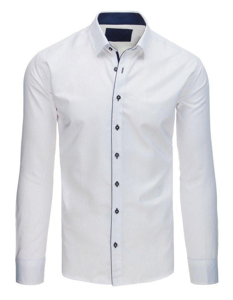 3cadfef41fae Elegantná biela pánska košeľa.