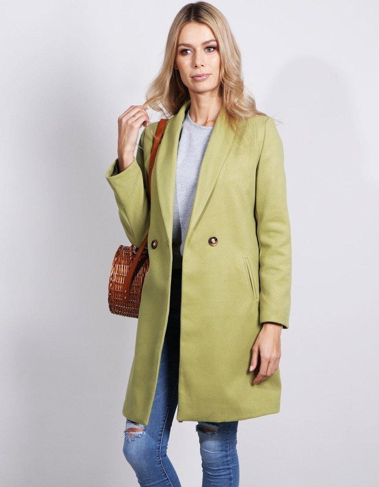 Dámsky jarný kabát hráškovej farby (ny0221) 6c43b176b37
