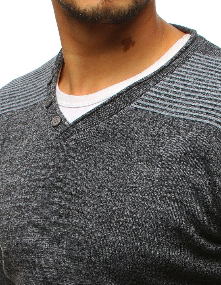 0fa812461860 Antracitový pánsky elegantný sveter (wx1130). PrevNext