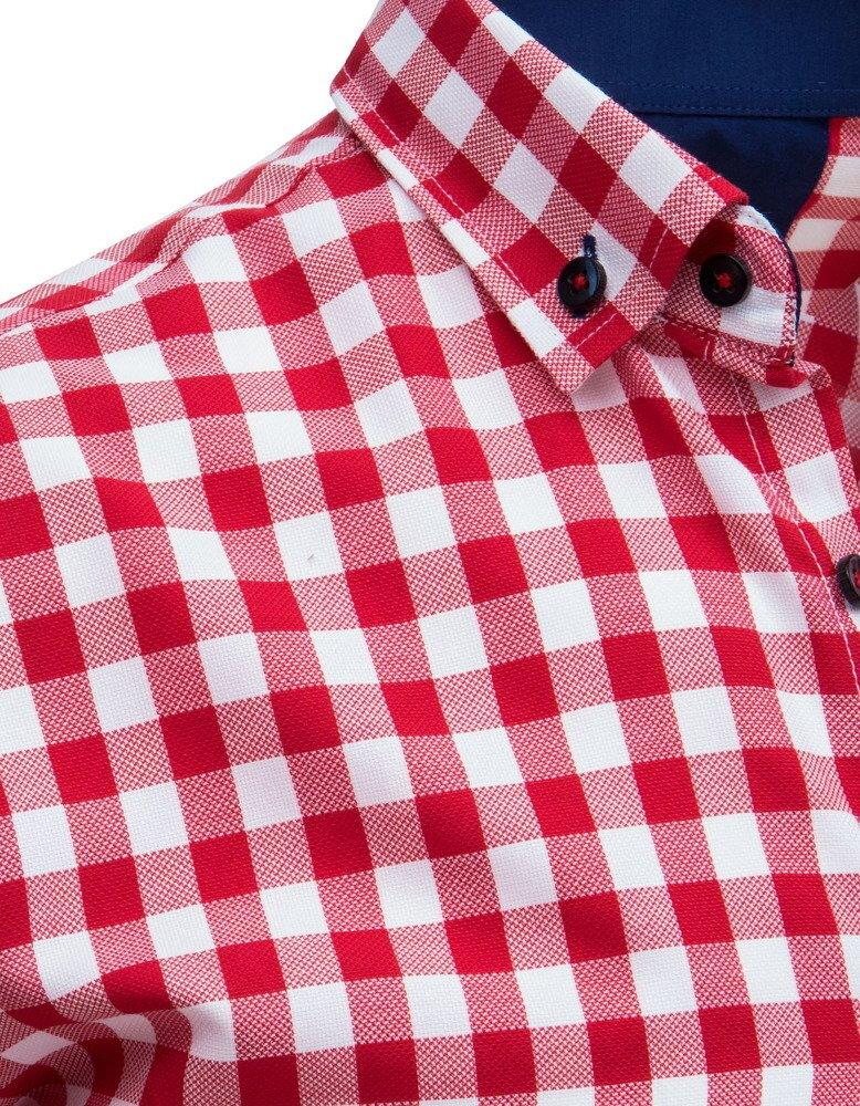 e5e6d2ca9adc Trendová károvaná košeľa s krátkym rukávom.