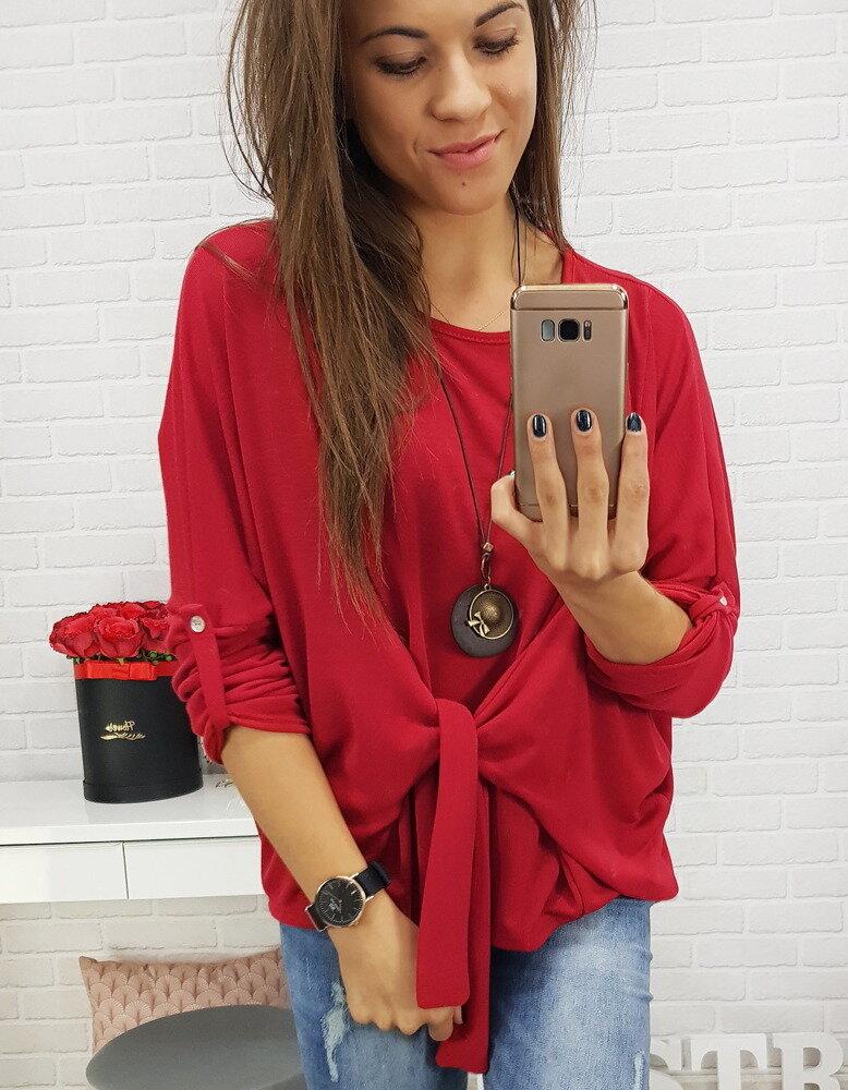 d40df78f1e80 Červený dámsky sveter (ry0429)