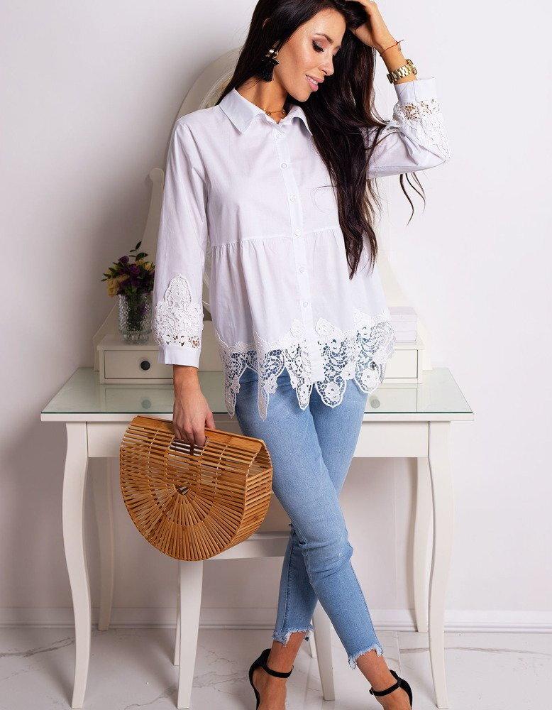 9c515dc6542e Biela dámska štýlová košeľa SONIA (dy0182)
