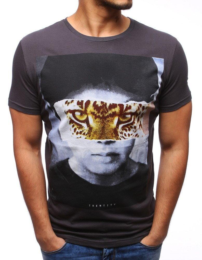 303727e6c Štýlové pánske tričko v grafitovej farbe (rx1069)