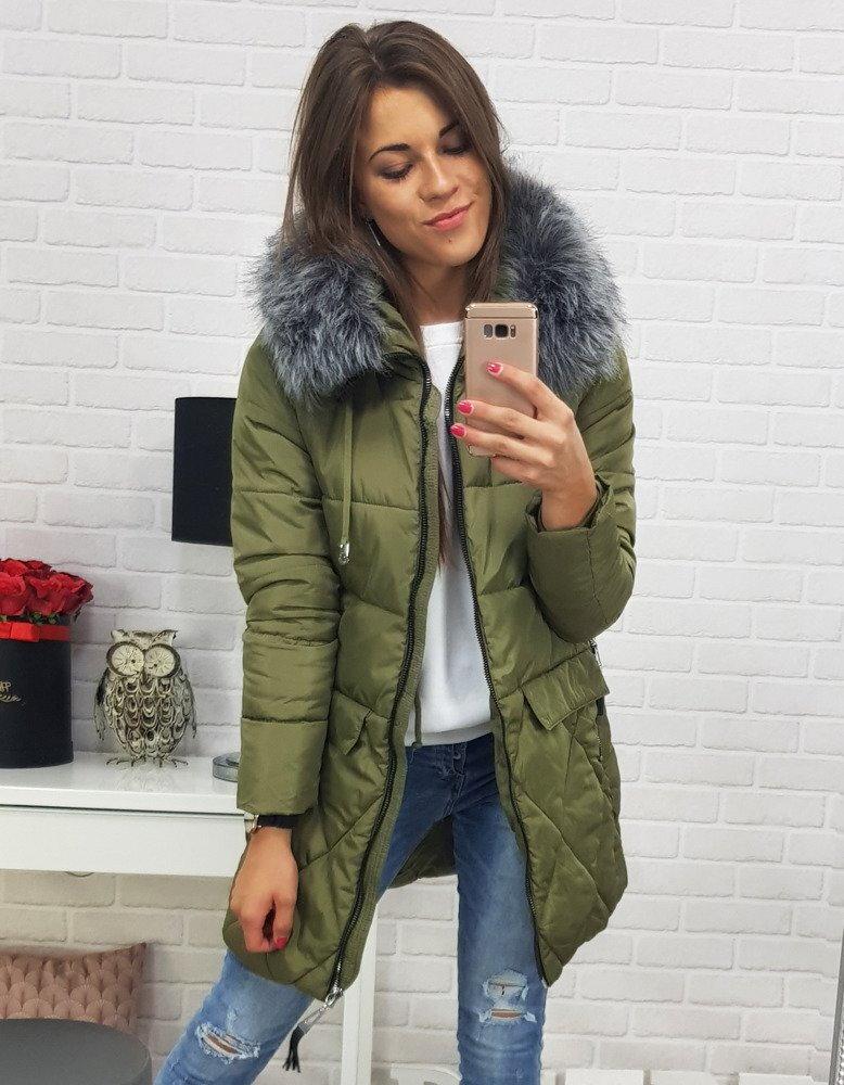 90fa4f146e261 Zelená dámska bunda na zimu (ty0363)