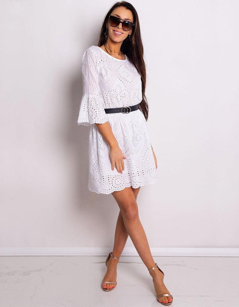 f582882350cf Elegantné biele dámske šaty BLANCHE (ey0777)