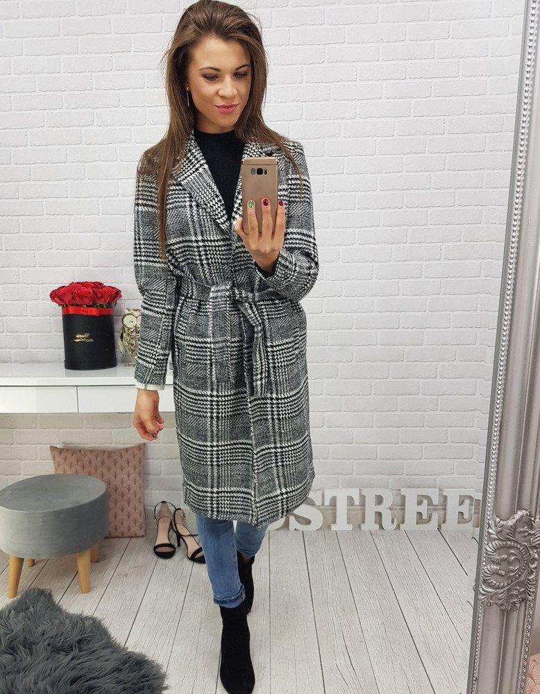 Károvaný dámsky kabát (ny0143) d54cebb228e