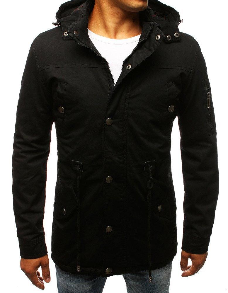 Čierna pánska prechodná bunda (tx2257) 84be993d0a6