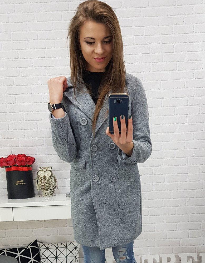 Dámsky šedý kabát (ny0212) 8d186588ab0
