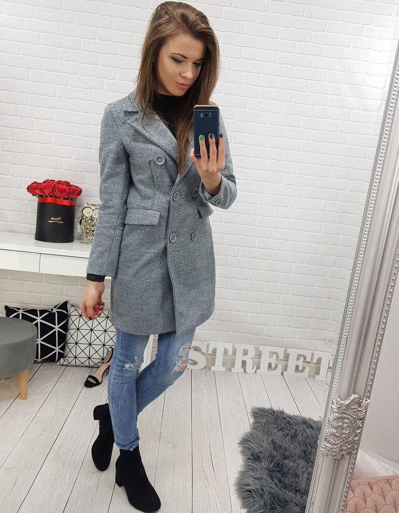 Dámsky šedý kabát. 0e5c5d1ee0f