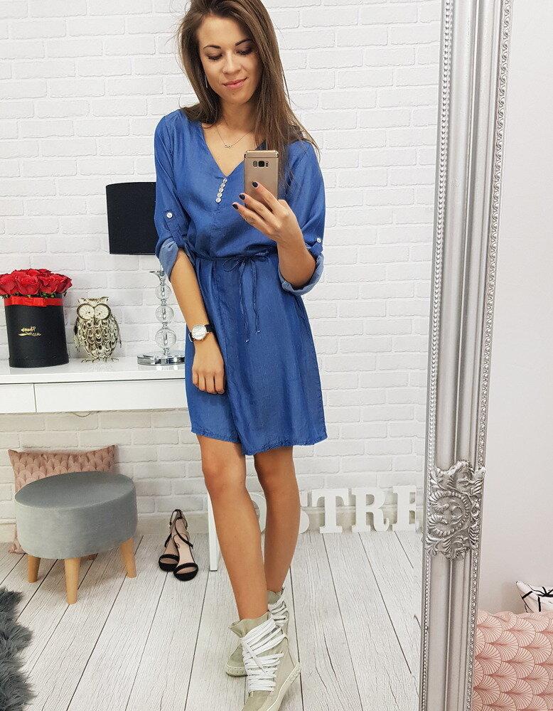 Moderné džínsové dámske šaty (ey0486) fb2fe4e586