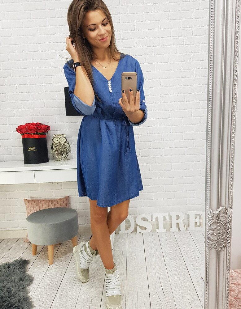 Moderné džínsové dámske šaty (ey0486) 6c406719205