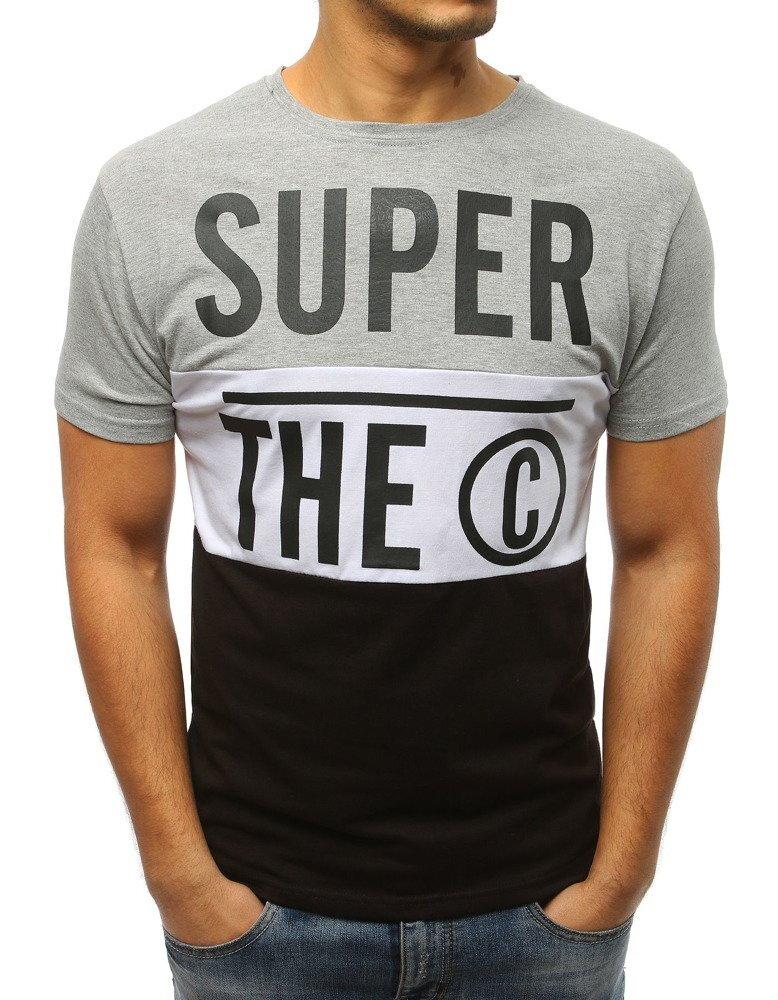 0cce50145e76 Svetlo-sivé pánske tričko s potlačou (rx3045)