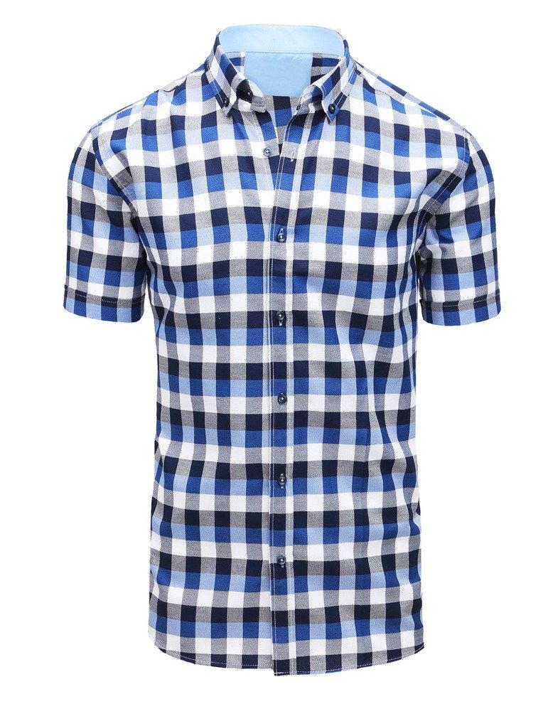 56dd17e4f439 Károvaná košeľa s krátkym rukávom (kx0875)