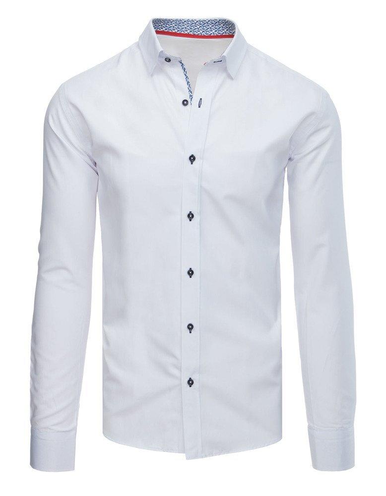 1b6b952d6683 Biela pánska elegantná košeľa (dx1582)