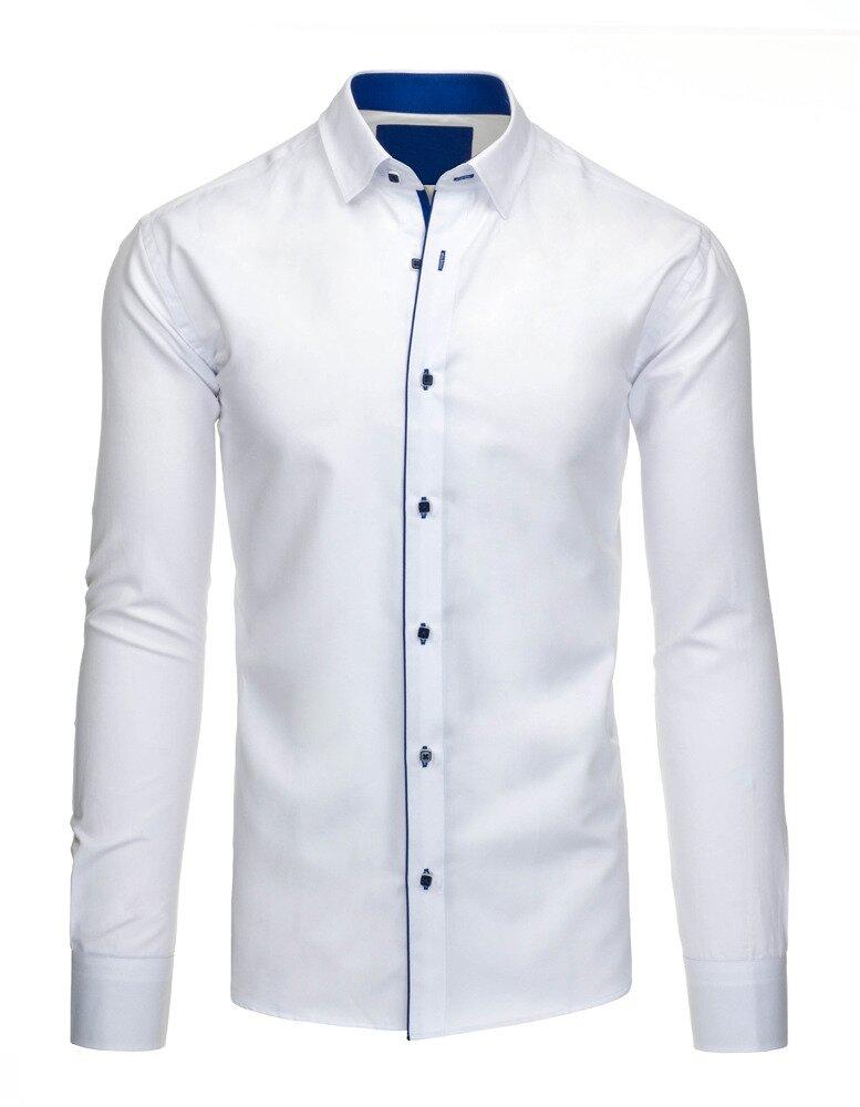 002f9934784e Elegantná biela pánska košeľa s dlhým rukávom (dx1201). PrevNext