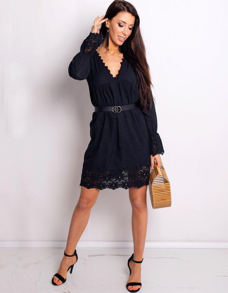 71b65180eb Kvetinové dámske šaty čiernej farby DE FLOR (ey0748)