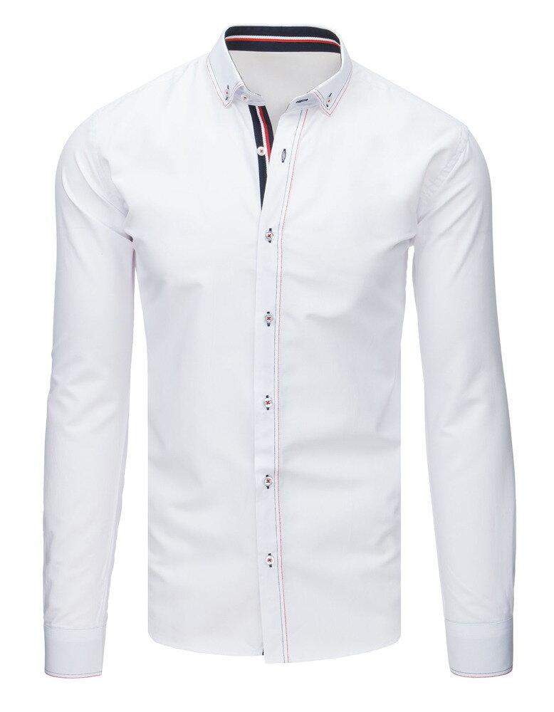 8bf8a6b9f38d Trendová biela pánska košeľa EGO MAN (dx1630)