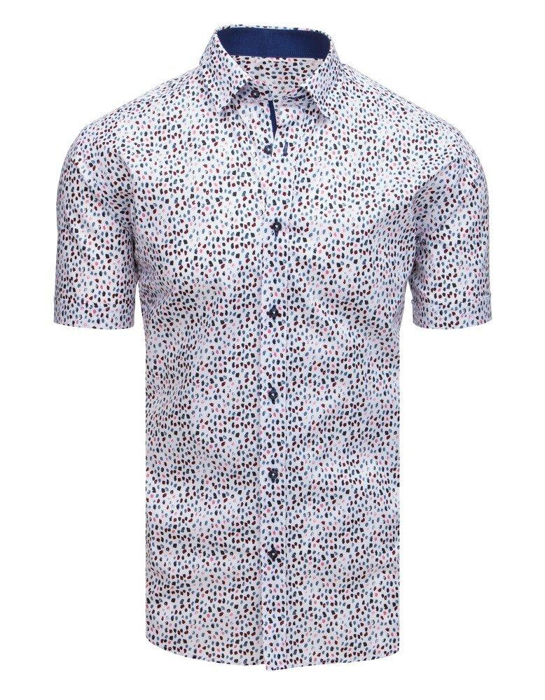 1bd14a5000b1 Vzorovaná pánska košeľa s krátkym rukávom.