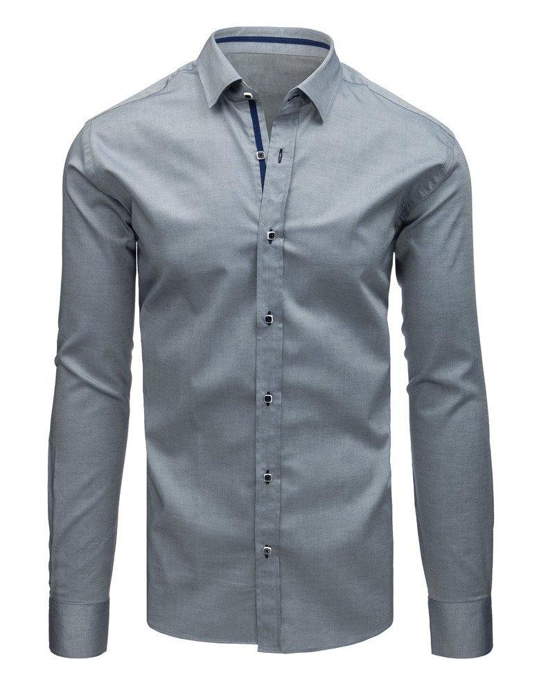 9ae3363c817d Elegantná šedá pánska košeľa.