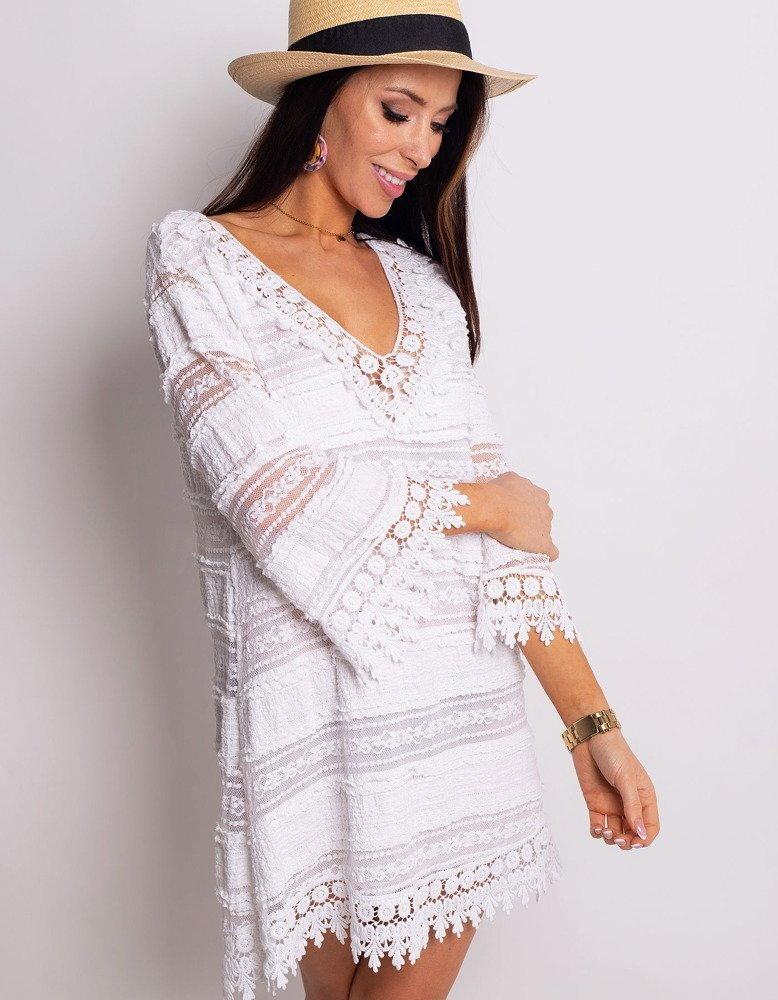 75bb08e82a47 Dámske módne biele šaty LEA (ey0759)