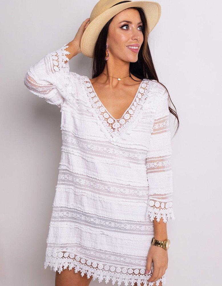 1870300b1a6d Dámske módne biele šaty LEA (ey0759). PrevNext
