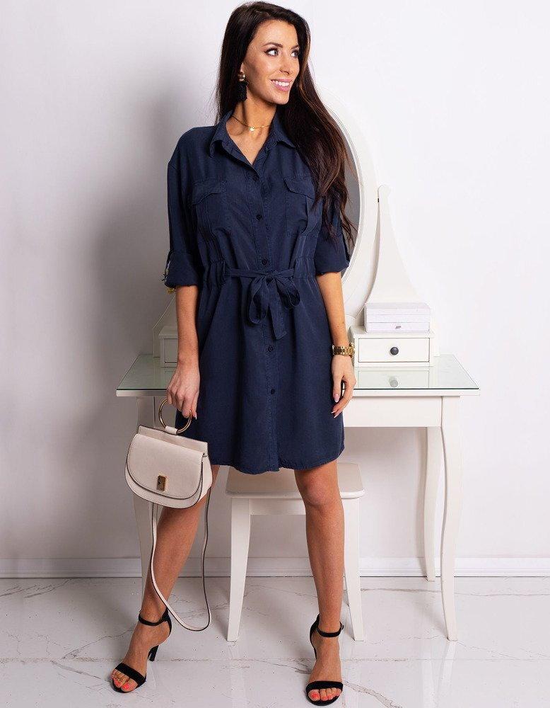 35d88fc21e Granátové košeľové šaty HANNAH (ey0769)